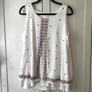 NWT soft embellished tank